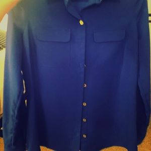 BCBGMaxAzria Tops - Royal Blue BCBG Button-Down Shirt, size XS